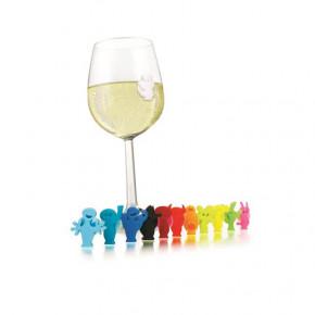 Lot de 12 marque-verres...