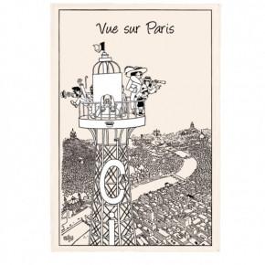 Torchon Chat Dubout Vue sur...