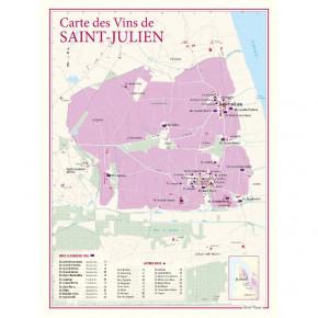 Carte vignoble Saint-Julien...
