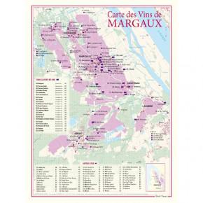Carte Vignoble Margaux 30x40
