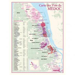 Carte vignoble Médoc 30x40