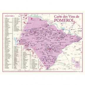 Carte vignoble Pomerol 30x40
