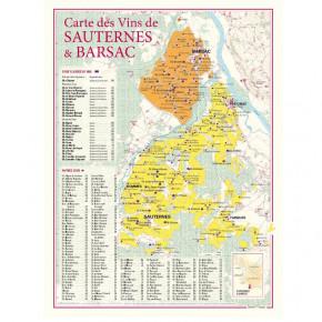 Carte vignoble Sauternes &...