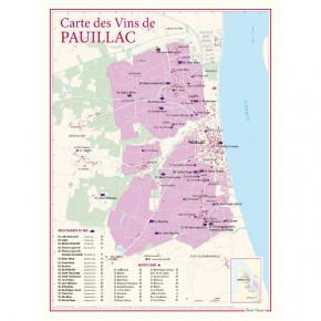 Carte du vignoble Pauillac...