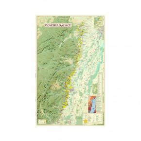 Carte du Vignoble d'Alsace...