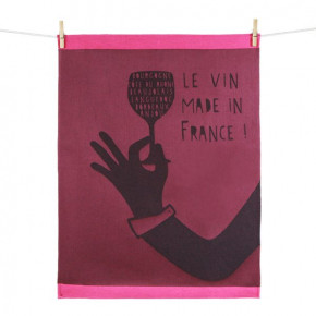 """Torchon """"Le vin made in..."""