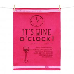 "Torchon ""It's wine o'clock"""